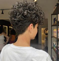 Curly Pixie Hairstyles, Short Curly Haircuts, Short Hairstyles For Women, Curly Hair Styles, Cut Hairstyles, Short Straight Hair, Short Hair Cuts, Short Permed Hair Before And After, Hair Toupee