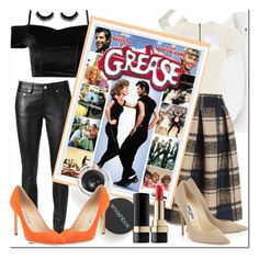 """""""Grease ♥"""" by passion-girlz ❤ liked on Polyvore featuring Yves Saint Laurent, WearAll, Givenchy, Roland Mouret, Smashbox, Manolo Blahnik, Dolce&Gabbana, movies, classics and Grease"""