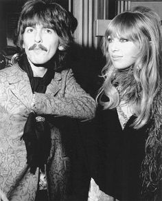 "george harrison and pattie boyd | George Harrison and Pattie Boyd. ""Something in the way she moves"", was ..."