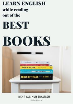 Improve your English while reading books you've always wanted to read. Improve Your English, Learn English, Good Books, Books To Read, Tim Ferriss, Reading Books, Getting Things Done, Improve Yourself, Good Things