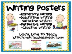 FREE Writing Posters (different kinds of writing)