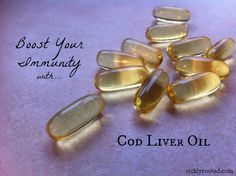 Cod liver oil is a great supplement to take this time of year, because we receive less Vitamin D from the sun as the days shorten!