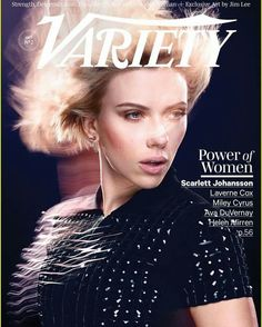 Scarlett Johansson covers Variety October issue in #Dsquared2 #SS17 #resort topwear! #d2editorials #womenswear  www.dsquared2.com