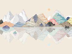 édition imprimée illustration limitée paysage montagnes (ciel cru) par anadelima sur Etsy https://www.etsy.com/fr/listing/270306946/edition-imprimee-illustration-limitee