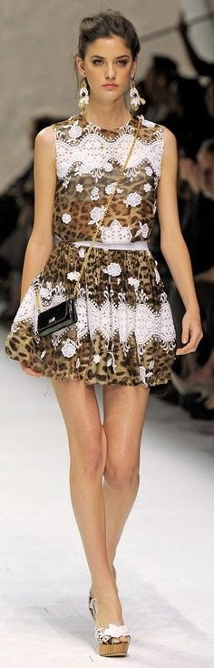Chanel-leopard and lace