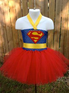 Superman Inspired Tutu Dress  Size Large by NeverlandDesignsShop, $55.00