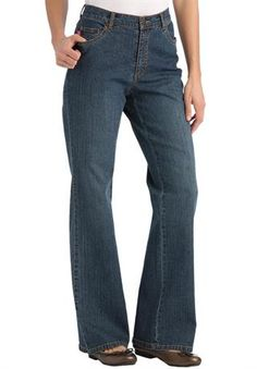 Petite jean, stretch, bootcut, 5-pocket styling