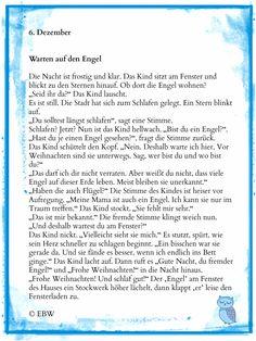 6. Dezember Haben Engel Flügel und ein silbernes Gewand … oder sind sie dir und mir und jedermann bekannt? © Elke Bräunling