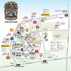 2013 ROT Facility Map Biker Rallies, Motorcycle Events, Austin Tx, Rally, Harley Davidson, Public, Entertaining, Map, Maps
