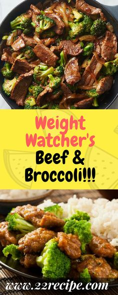 Weight Watcher's Beef & Broccoli!!! - 33 Recipe