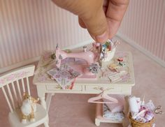 An Awesomely Intricate Wee Sewing Corner!