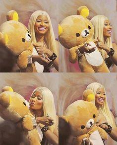Nicki Minaj with a big.... Teddy bear.