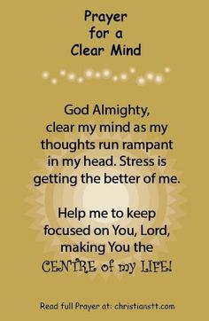 Please Lord Clear My Mind.I Need Your Mental CLarity And Renewal. I Need Your Mental Detoxification that is the Ultimate Cure !!!! You Jesus !!!! In His Name Amen !!!!!
