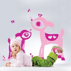 wall decals for kids rooms | With this kind of colorful Bambi wall stickers from coolwallart , we ...