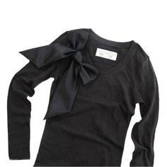 Sale womans black long sleeve top retro bow valentino influence by tratgirl. $24.99, via Etsy.