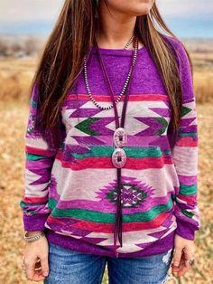 FSSE Women Color Block Casual Long Sleeve Loose Fit Pullover Sweatshirt Top