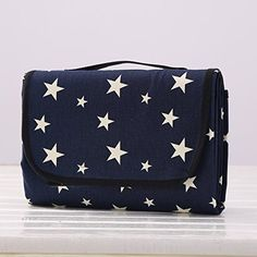 787 x 582 Multifunctional Picnic Blanket Outdoor Camping Rug Beach Mat Travel Play Mat Blue Star -- You can get more details by clicking on the image.