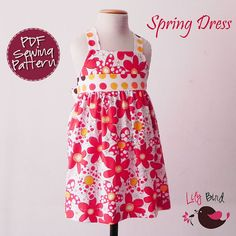 Spring dress  12M to 6T  PDF Pattern and by TheLilyBirdStudio, $6.90