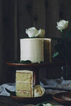 """Inspired by lemon ricotta cookies, this lemon ricotta cake is rich, moist and dense thanks to the addition of ricotta – """"a pound cake in disguise."""" Once covered and decorated with buttercream frosting, this dessert would be perfect for a birthday, celebration or even just for when you feel like treating yourself to a scrumptious piece of cake."""