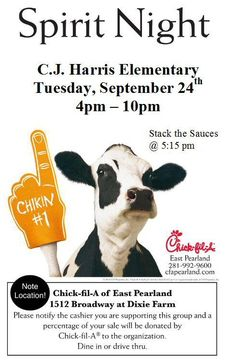 Chick Fil A Spirit Night Dover High Class of 2005 flyer created ...