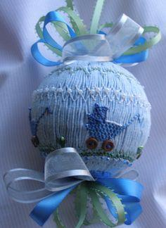 American Handmade English Smocked Ornament/ Baby by grandcruefarm