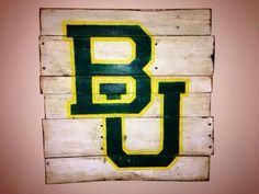 Baylor University Wall Hanging by PalletsandPaint on Etsy, $40.00