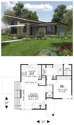 Compact Contemporary Home  If you are looking for a compact home that will turn heads, look no further. Large windows bring in lots of sunlight and provide for an outstanding outdoor connection. This home is ideal for the Beach, a Rental, Vacation, or Micro Living!