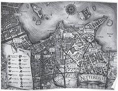 Beautiful map of Ketterdam from Leigh Bardugo's Crooked Kingdom Shadow Bone, Crooked Kingdom, The Grisha Trilogy, Leigh Bardugo, Fanart, Six Of Crows, Fantasy Map, Framed Prints, Canvas Prints