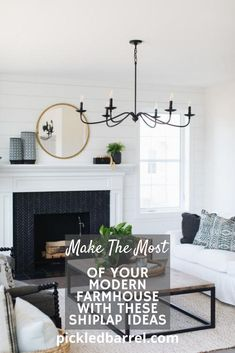 Shiplap can make your entire room feel more welcoming and warm. So, get off the boat and get onto the ship(lap)! #pickledbarrelblog #modernfarmhouseideas #bathroomdecor Living Room White, Living Room Paint, New Living Room, Formal Living Rooms, Living Room Modern, Living Room Decor, Small Living, Dining Room, Living Spaces