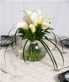 D coration florale de table verre centre de table for Decoration florale centre de table
