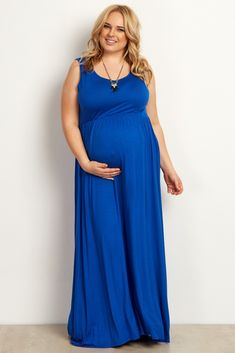 Royal blue maxi dress plus size