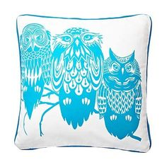 {Three Owls Pillow}