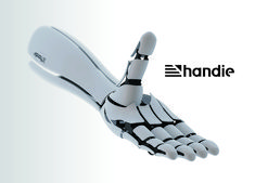 James Dyson Award 2013, Shortlisted entries >> Handie is an affordable prosthetic hand with inbuilt myoelectric sensors which can read brain signals. Costs have been reduced by using a smartphone to compute the electrical impulses on the skin's surface. Designer: Hiroshi Yamaura | via Yanko Design
