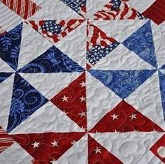 We will be supporting our troops through Quilts of Valor. Please check our… Flag Quilt, Pinwheel Quilt, Patriotic Quilts, Quilt Blocks, Navy Quilt, Patriotic Crafts, Patriotic Decorations, July Crafts, Quilting Tutorials