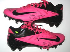 Trevin Wade Cleveland Browns Rookie Game Worn   Signed Pink   Black Breast  Cancer Awareness Nike Vapor Elite Cleats 678cf90238d