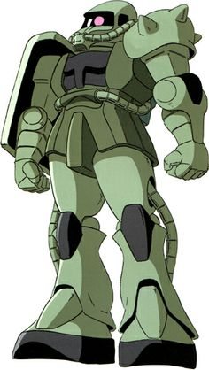 The MS-06F Zaku II is one of many variants of the MS-06 Zaku II series of Mobile Suits. The MS-06F was the most produced mobile suit during the One Year War, with 3,246 units built during the war. The MS-06F was piloted by top-scoring Zeon MS aces, as well as by the highest-scoring Zeon ace in the war. It first appears in the anime series Mobile Suit Gundam.