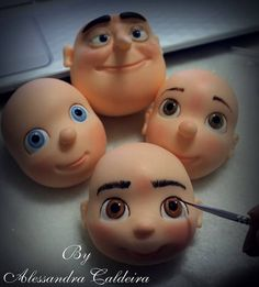heads & faces in clay or fondant