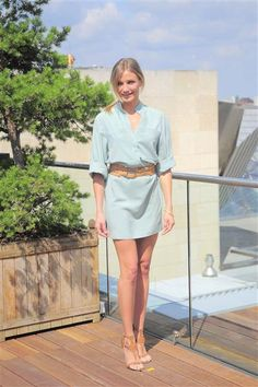 """17. With legs like Cameron's, even a modest shirt dress ends up looking super-sexy. The """"Mask"""" actress flaunted her trademark gams at a photocall for """"Bad Teacher"""" in Berlin on June 17, 2011."""