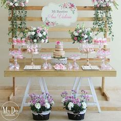 Baby shower vintage floral wedding ideas 44 ideas for 2019 Girl First Birthday, Baby Birthday, Birthday Parties, Baptism Party Decorations, Baby Shower Decorations, Girl Baptism Party, Baby Baptism, Vintage Candy Bars, Deco Buffet