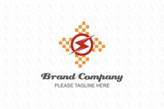 Pixel Power - $301(negotiable) http://www.stronglogos.com/product/pixel-power #logo #design #sale #technology #electricity #car #brand #company #lightning #power