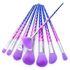 Unicorn makeup brushes are HOTTER that ever and we have these fabulous purple ones available. These high quality brushes are perfect for every unicorn lover out there! This brush set is in extremely h