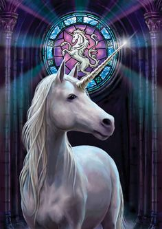 Unicorn Greeting Card Anne Stokes Enlightenment Medieval Fantasy Magick Card