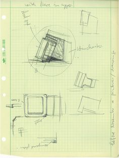 Apple 80s vision of the future - original sketches, made during meetings between Hartmut Esslinger and Steve  Jobs.