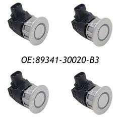 4PCS PDC Parking Distance Control Sensor For Toyota Crown Majesta Lexus IS250 IS350 GS300 Silver 89341-30020-B3 89341-30020 #Affiliate