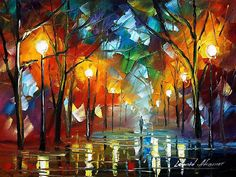 """Colder Day"" by Leonid Afremov  -  redbubble.com"