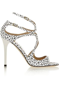 Jimmy CHoo | Lang printed patent-leather sandals