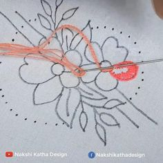 Hand Embroidery Patterns Flowers, Hand Embroidery Projects, Hand Embroidery Videos, Hand Embroidery Designs, Embroidery Techniques, Cushion Embroidery, Diy Bead Embroidery, Embroidery Stitches Tutorial, Creations