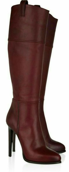 Emilio Pucci Leather knee boots Emilio Pucci knee boots: plum leather, stacked heel measures approximately 5 inches with a 1 inch concealed High Heel Boots, Knee Boots, Heeled Boots, Bootie Boots, High Heels, Ugg Boots, Hot Shoes, Crazy Shoes, Me Too Shoes