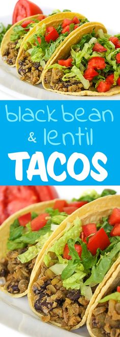 Lentils and beans combine for a healthy, DELICIOUS, protein-packed taco mix! Lentils and beans combine for a healthy, DELICIOUS, protein-packed taco mix! Vegan Mexican Recipes, Lentil Recipes, Vegetarian Recipes, Healthy Recipes, Vegan Black Bean Recipes, Vegetarian Italian, Healthy Options, Yummy Recipes, Recipies