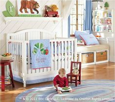 The Very Hungry Caterpillar nursery theme from Pottery Barn Kids